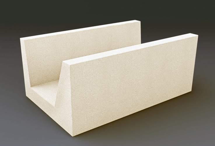 U-образный газобетонный блок