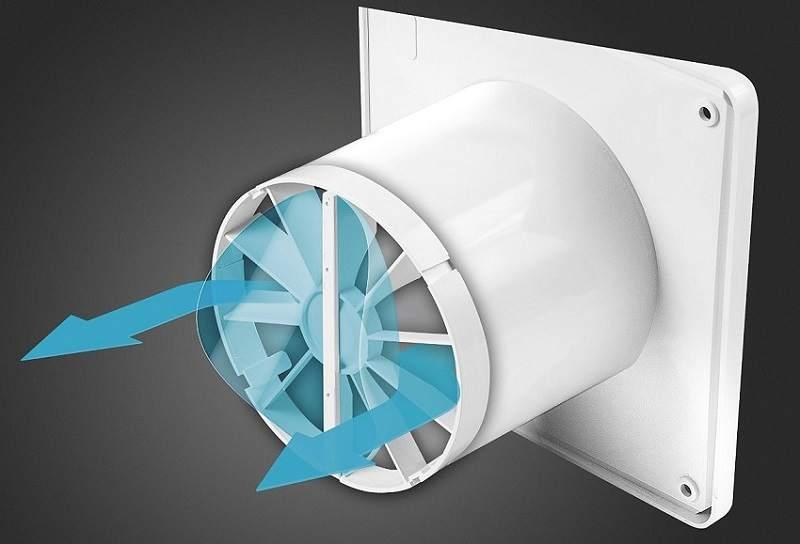 Обратный клапан на вытяжном устройстве