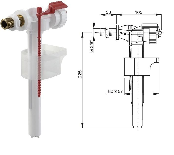 Так выглядит впускной клапан с боковой подачей воды