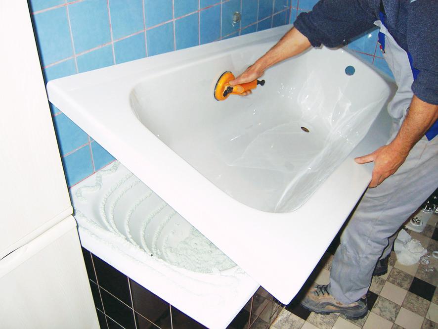 Вкладыш из акрила - альтернатива дорогостоящей замене старой емкости для купания