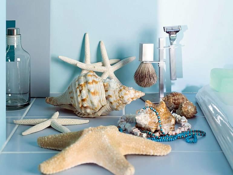 Обстановку средиземноморья отлично дополнят стильные аксессуары и дары моря