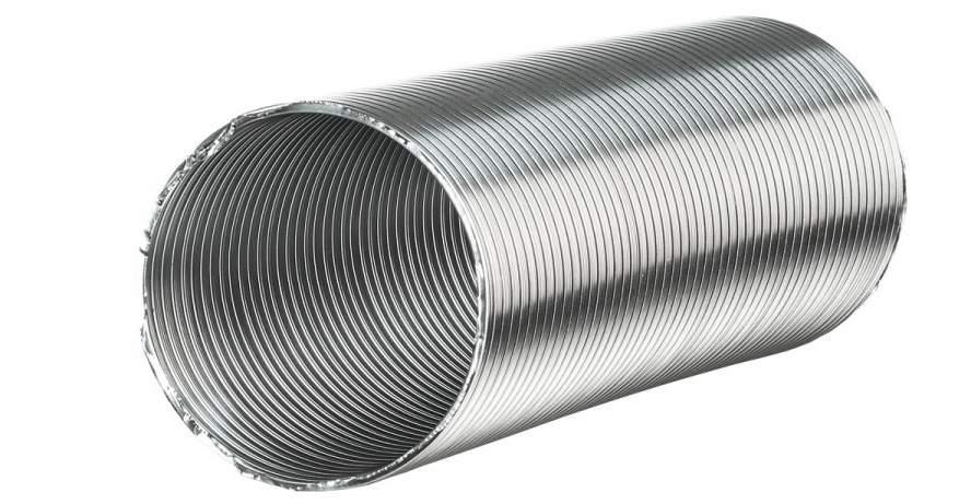 Гофрированная труба из алюминия - самый распространенный вариант