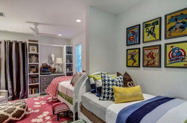 Декорирование спальни разнополых детей должно учитывать пристрастия каждого из них