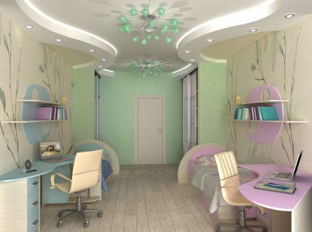 Обустройство комнаты для разнополых детей требует особого подхода к использованию пространства
