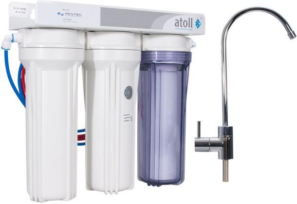 Умягчитель питьевой воды с отдельным краном