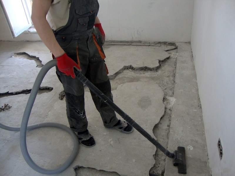 Ремонт бетонного пола  видео