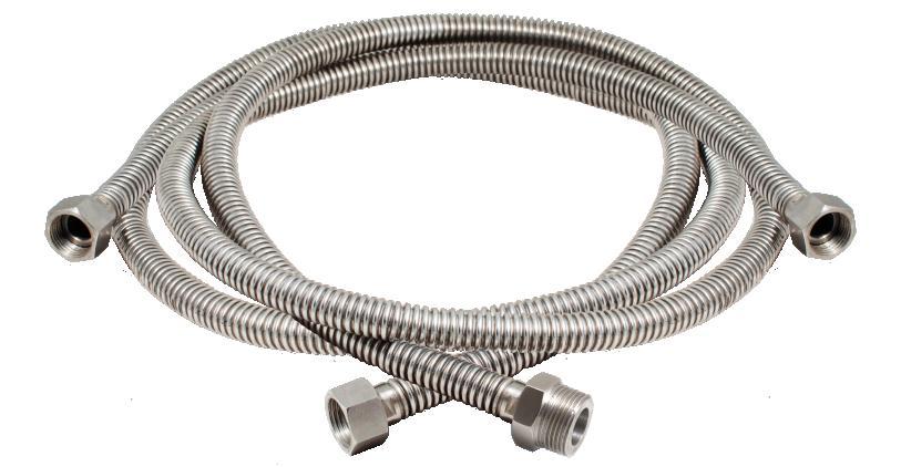 Используем сильфонный шланг для подключения воды