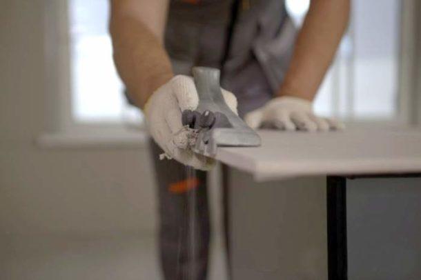 Снятие фаски с листа гипсокартона