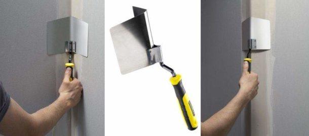 Специальный шпатель для выведения углов