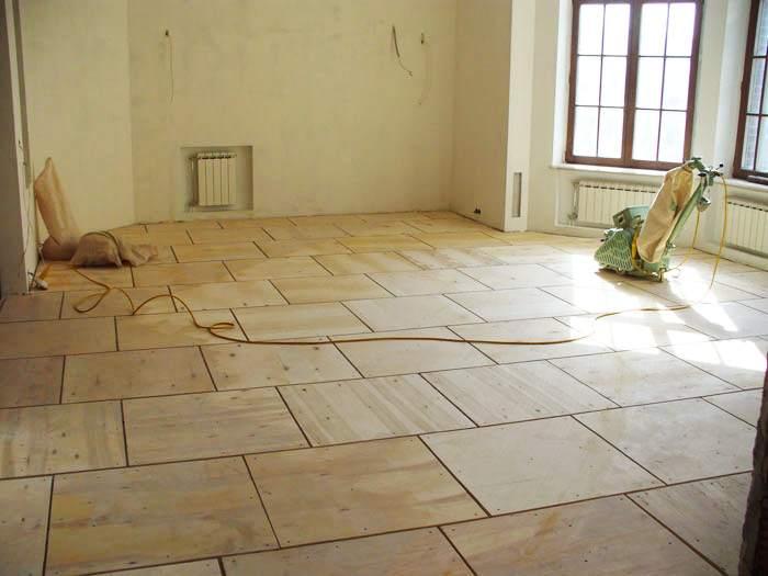 Готовим деревянный пол к укладке линолеума