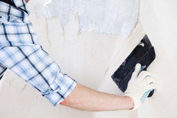 Производим подготовку стен перед последующей покраской