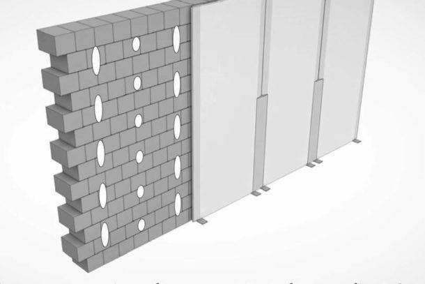 Крепление ГКЛ к стене методом приклеивания