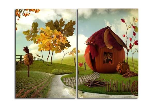 Диптих для детской: изображение разделено на 2 сегмента