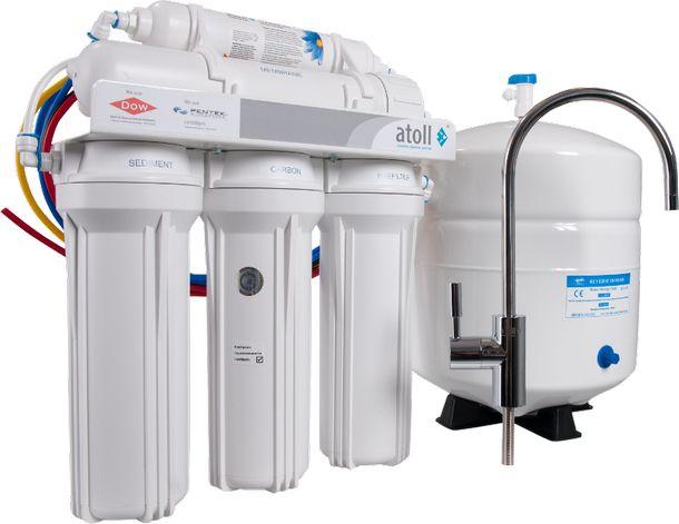 Система очистки воды методом обратного осмоса с накопительным баком
