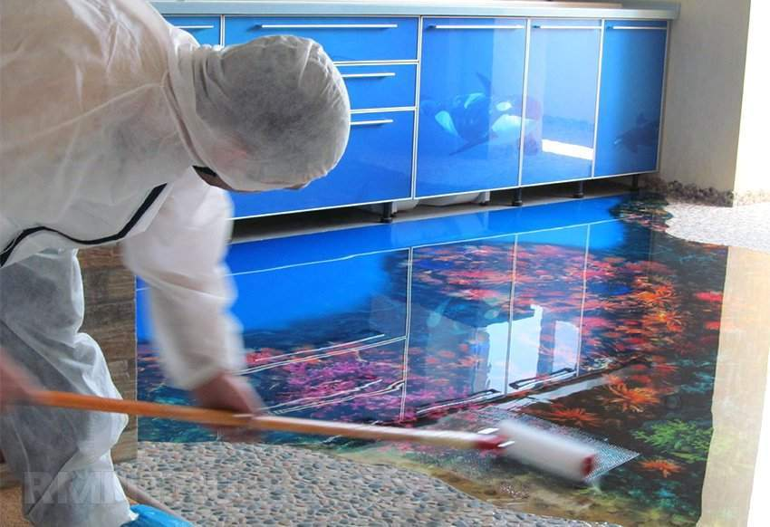 Печать для наливных полов