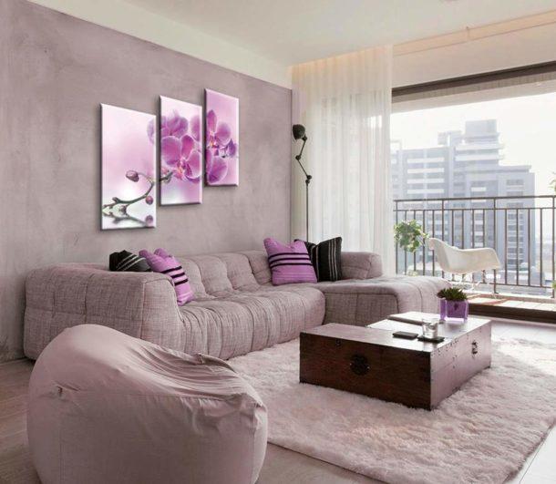 Идеальное сочетание цветовой гаммы полотна и интерьера