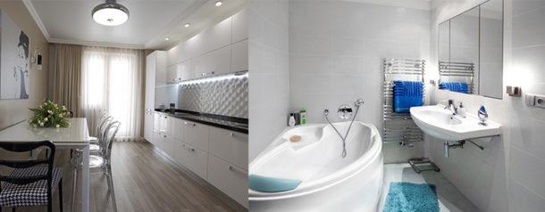 Перечень ремонтных работ в кухне и в санузле шире, чем в остальных помещениях