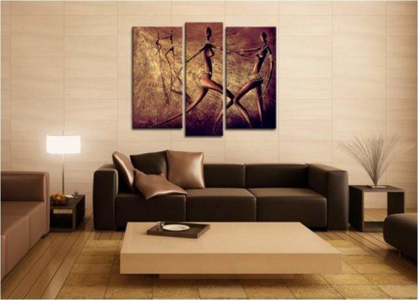 Выбираем модульную картину для стены над диваном в гостиной