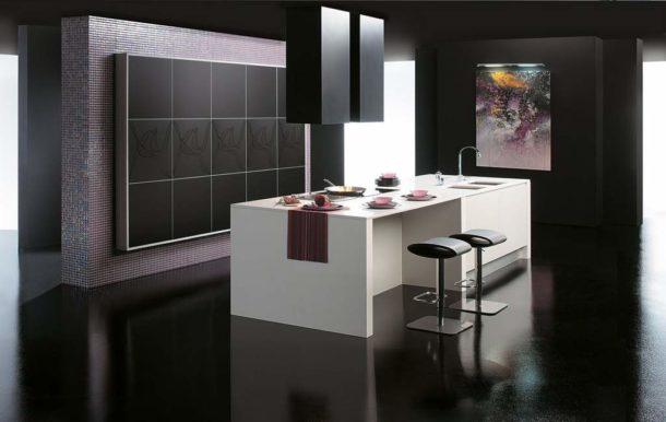 Абстракция для кухни в стиле хай-тек