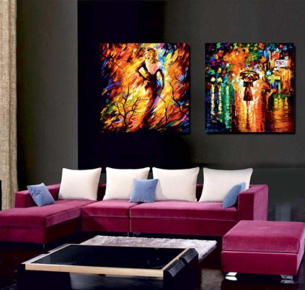 Диптих, выполненный масляными красками