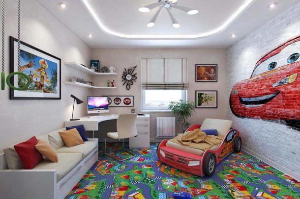 Для детской спальни подходят изображения, которые нравятся ребенку