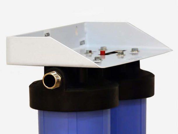Фильтрующая система из пластика для холодной воды с 2 ступенями очистки
