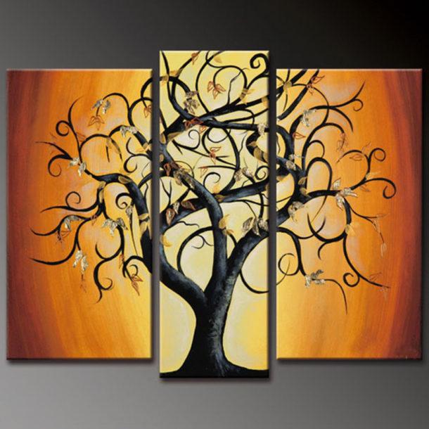 Модульная картина маслом с простым сюжетом, созданная своими руками