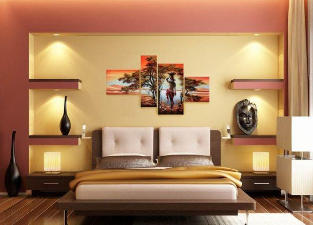 Модульная картина с африканскими мотивами подходит к интерьеру и по тематике, и по цветам