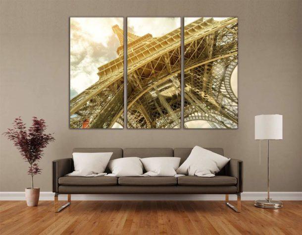 Модульный триптих в гостиной