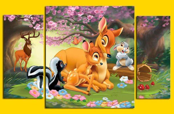 Сегментированное изображение со зверями - героями мультфильмов понравится малышам