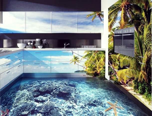 Создаем наливные полы с объемными изображениями без помощи специалистов