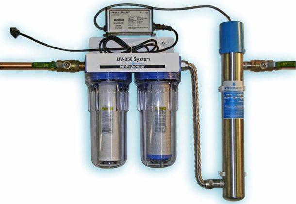 УФ-очиститель может быть частью комплексной системы фильтрации