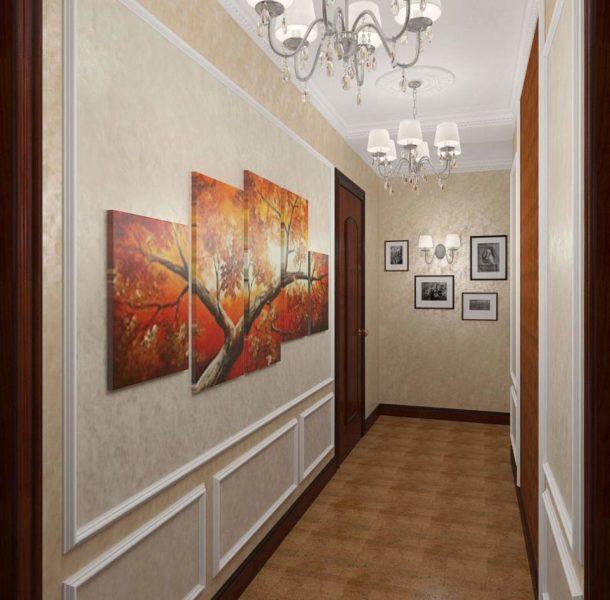 Пентаптих, удачно размещенный в небольшом коридоре