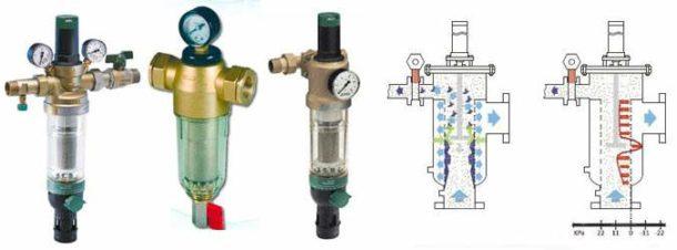 Фильтрующая система такого типа не требует смены картриджей и снятия для промывки