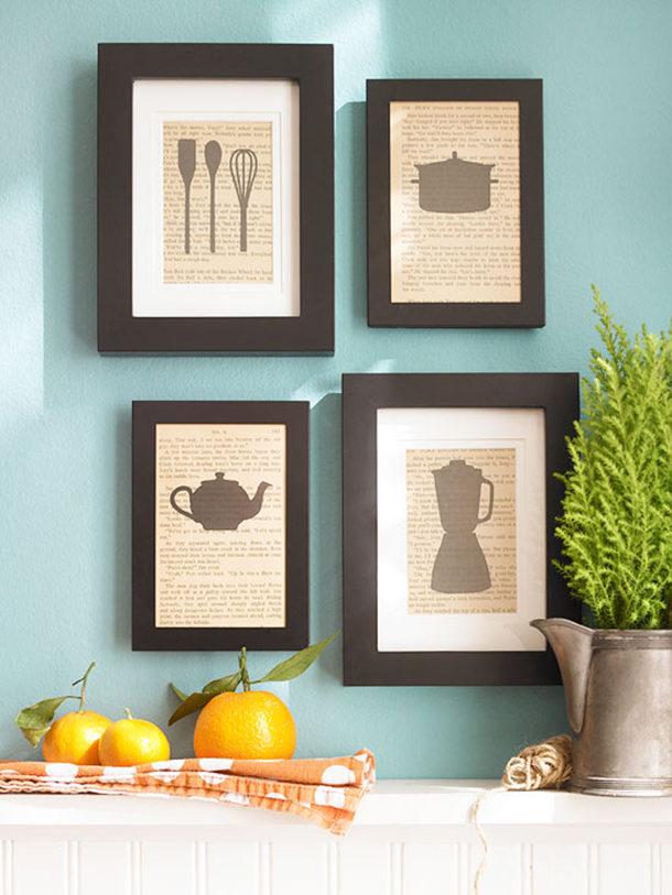 Простые картины-постеры для кухни