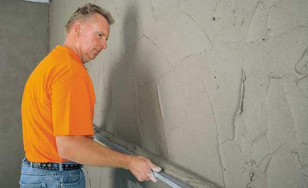 Штукатурка стен цементным раствором своими руками без маяков 26