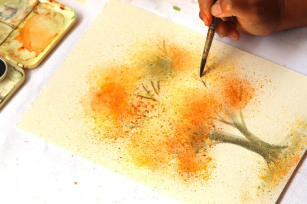 Для рисования акварелью не нужны холст и дорогие краски