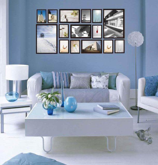Пример современного решения для декорирования стены в зале