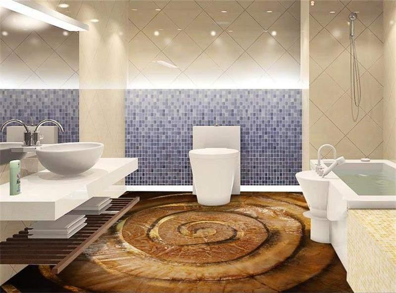 Прзрачный пол в туалете вид снизу