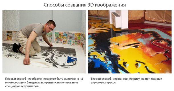 В зависимости от пожеланий хозяев отличается и технология создания рисунка