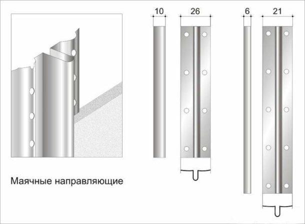 Используем маяки для создания ровного слоя штукатурки