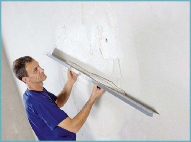 Визуальное выравнивание стен под правило
