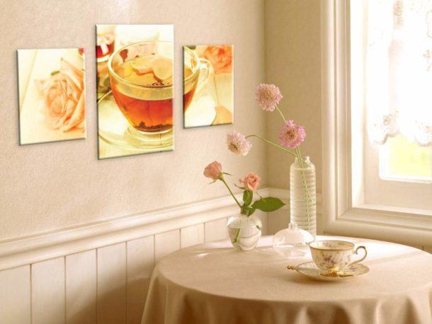 Украшаем кухню правильно подобранными картинами