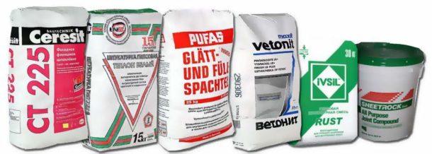 Выбираем сухую смесь для обработки стен