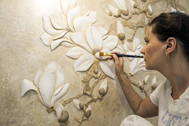 Учимся создавать барельефы на стенах