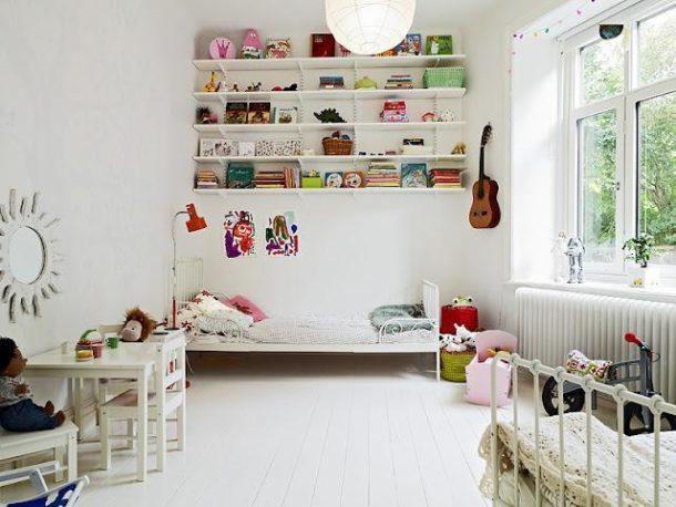 Детская в скандинавском стиле для мальчика и девочки (12 фото)