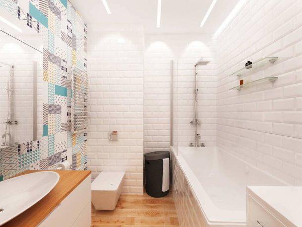 Натуральный деревянный пол прекрасно смотрится в сочетании с белыми стенами