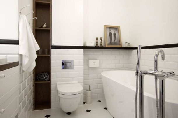 Уютный дизайн ванной в скандинавском стиле