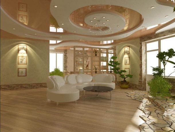 Дизайнерское оформление потолочной поверхности