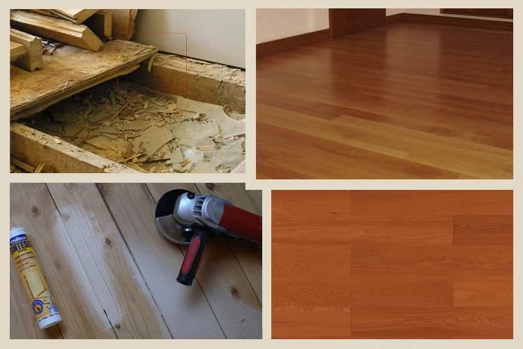 Как отремонтировать старый деревянный пол своими руками 82